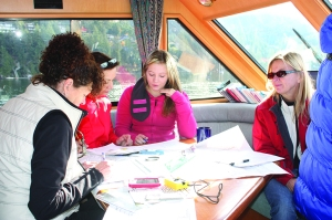 Students Learning the essentials of navigation. Photo: Jeanette Gordon